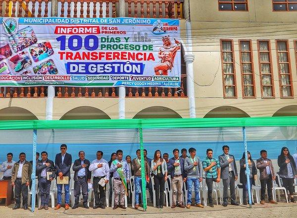Alcalde de San Jerónimo informó sobre primeros 100 días de su gestión