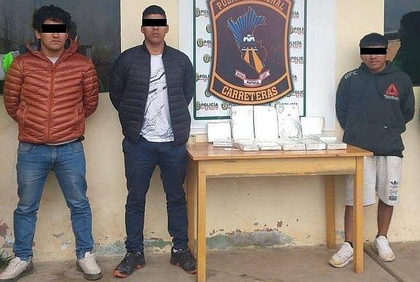 Sujetos caen con carga de alcaloide de cocaína en Andahuaylas