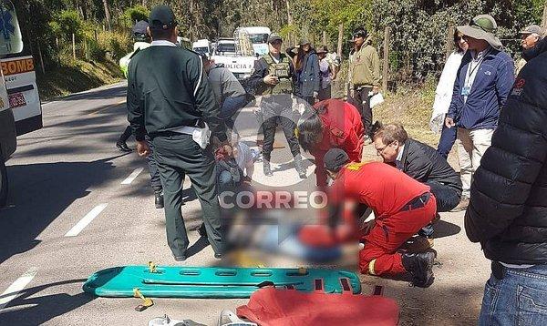 Cusco: Turistas sufren fuerte accidente en Sacsayhuamán (FOTOS)