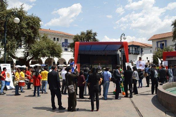 Expoferia de buenas prácticas en gestión pública intercultural en Cusco