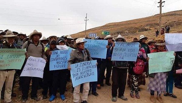 Pobladores de Haquira acuerdan tregua para dialogar con minera Anabi