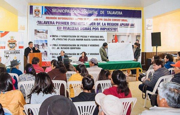 Por primera vez se implementará la modalidad Obras por Impuestos en Apurímac